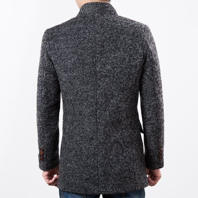 Slimming Stand Collar Long Sleeve Knit Blends Lengthen Mens Woolen JacketMens Jakets &amp; Coats<br>Slimming Stand Collar Long Sleeve Knit Blends Lengthen Mens Woolen Jacket<br><br>Clothes Type: Wool &amp; Blends<br>Material: Cotton Blends<br>Collar: Mandarin Collar<br>Clothing Length: Long<br>Style: Fashion<br>Weight: 1.05KG<br>Sleeve Length: Long Sleeves<br>Season: Winter<br>Package Contents: 1 x Jacket