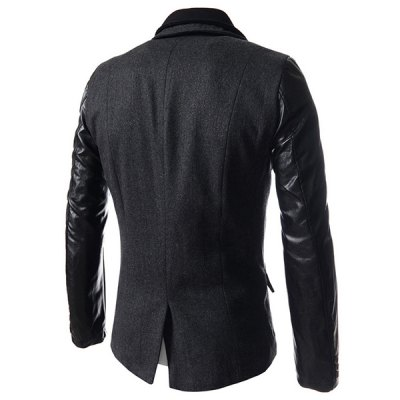 Faux Twinset Turn-down Collar Hit Color Zipper Fly Fitted Mens PU Leather Long Sleeves CoatMens Jakets &amp; Coats<br>Faux Twinset Turn-down Collar Hit Color Zipper Fly Fitted Mens PU Leather Long Sleeves Coat<br><br>Clothes Type: Trench<br>Material: Faux Leather, Wool, Cotton<br>Collar: Mandarin Collar<br>Clothing Length: Long<br>Style: Fashion<br>Weight: 1.180KG<br>Sleeve Length: Long Sleeves<br>Season: Winter, Fall<br>Package Contents: 1 x Coat