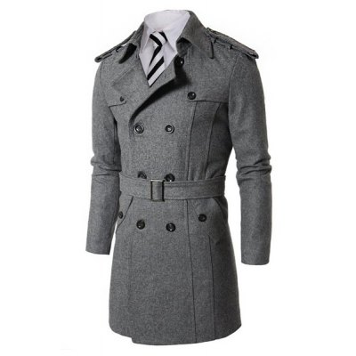 Hot Sale Turn-down Collar Multi-Button Elegant Belt Epaulet Design Slimming Long Sleeves Mens PeacoatMens Jakets &amp; Coats<br>Hot Sale Turn-down Collar Multi-Button Elegant Belt Epaulet Design Slimming Long Sleeves Mens Peacoat<br><br>Clothes Type: Wool &amp; Blends<br>Material: Cotton, Wool<br>Collar: Turn-down Collar<br>Clothing Length: Long<br>Style: Casual<br>Weight: 1.110KG<br>Sleeve Length: Long Sleeves<br>Season: Winter<br>Package Contents: 1 x Coat