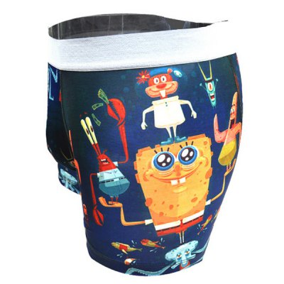 Гаджет   Penis Pouch Design Elastic Waist 3D Cartoon Spongebob Print Men