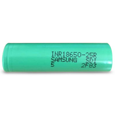 3.7V 2500mAh 18650 Rechargeable Li-ion Battery ( INR18650 - 25R )Batteries<br>3.7V 2500mAh 18650 Rechargeable Li-ion Battery ( INR18650 - 25R )<br><br>Type: Battery<br>Brand: SAMSUNG<br>Battery Type: Lithium-ion<br>Rechargeable: Yes<br>Protected: No<br>Voltage(V): 3.7V<br>Discharge Current: 30A<br>Mercury Free: Yes<br>Suitable for: MP4,MP3,Microphone,Flashlight,MP5,PDA,Digital Camera,CD Players,Car toys,Electronic Cigarette<br>Product weight: 0.044 kg<br>Package weight: 0.070 kg<br>Product size (L x W x H): 6.5 x 1.8 x 1.8 cm / 2.55 x 0.71 x 0.71 inches<br>Package size (L x W x H): 8 x 3 x 3 cm / 3.14 x 1.18 x 1.18 inches<br>Package Contents: 1 x 18650 Battery