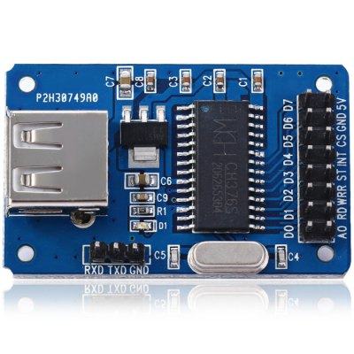 CH375B Flash Drive Communication ModuleBoards &amp; Shields<br>CH375B Flash Drive Communication Module<br><br>Type: CH375B Flash Drive Communication Module<br>Product Weight: 0.009 kg<br>Package Weight: 0.050 kg<br>Product Size(L x W x H): 4.7 x 2.9 x 1 cm / 1.85 x 1.14 x 0.39 inches<br>Package Size(L x W x H): 7.9 x 6 x 1.1 cm / 3.10 x 2.36 x 0.43 inches<br>Package Contents: 1 x CH375B Flash Drive Communication Module