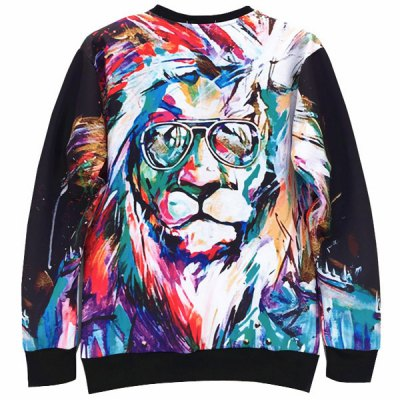 Round Neck 3D Lion Oil Painting Print Long Sleeve Slimming Mens SweatshirtMens Hoodies &amp; Sweatshirts<br>Round Neck 3D Lion Oil Painting Print Long Sleeve Slimming Mens Sweatshirt<br><br>Material: Cotton, Polyester<br>Clothing Length: Regular<br>Sleeve Length: Full<br>Style: Fashion<br>Weight: 0.373KG<br>Package Contents: 1 x Sweatshirt
