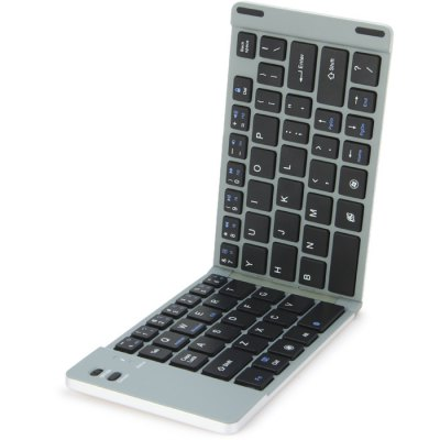 HB022 Foldable Wireless Bluetooth 3.0 Keyboard with Phone Bracket
