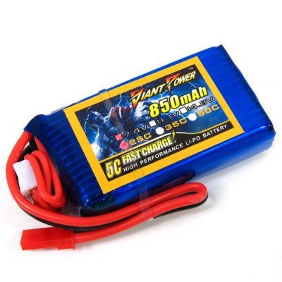Spare Giant Power JST-plug 850mAh 2S 7.4V 25C Battery Fitting for WLtoys V912 Remote Control HelicopterMulti Rotor Parts<br>Spare Giant Power JST-plug 850mAh 2S 7.4V 25C Battery Fitting for WLtoys V912 Remote Control Helicopter<br><br>Type: Battery<br>Package weight: 0.1 kg<br>Package size (L x W x H): 7 x 4 x 3 cm / 2.75 x 1.57 x 1.18 inches<br>Package Contents : 1 x Battery