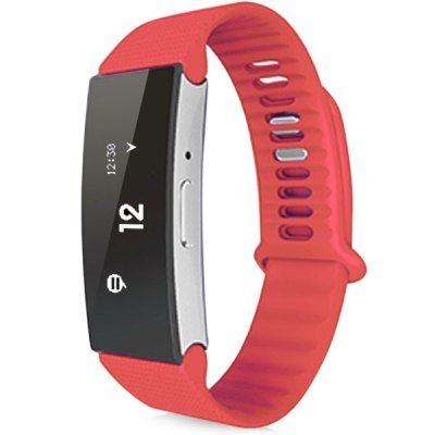 Cling band Smart Watch WristbandSmart Wristband<br>Cling band Smart Watch Wristband<br><br>Bluetooth version: Bluetooth 4.0<br>People: Unisex table<br>Waterproof: YES<br>Waterproof rating: IP67<br>Colors: Green, Purple, Pink, Red, Blue<br>Screen: YES<br>Screen type: OLED<br>Battery type: Lithium polymer battery<br>Battery capacity: 60mAh<br>Standby time: About 14 days<br>Compatible OS: Android, iOS<br>Compatability: Android 4.4 / iOS 7.0 and above system<br>Language: English, Simplified/TraditionalChinese<br>Functions: Time, Sleep management, SOS, Calories burned measuring, UV detection, Call reminder, SMS reminding, Steps counting, Measurement of heart rate, Temperature monitoring, Distance recording, Incoming call<br>Shape of the dial: Rectangle<br>Case material: Metal<br>Band material: TPU<br>Wearable length: 14 - 20 cm / 5.51 - 7.87 inches<br>Product weight: 0.020 kg<br>Package weight : 0.16 kg<br>Package size (L x W x H): 12 x 10 x 4 cm / 4.72 x 3.93 x 1.57 inches<br>Package contents: 1 x Cling band Smart Wristband, 1 x Chinese and English Manual