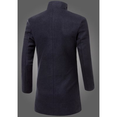 Laconic Fitted Stand Collar Patch Pocket Single-Breasted Woolen Blend Long Sleeves Mens Thicken CoatMens Jakets &amp; Coats<br>Laconic Fitted Stand Collar Patch Pocket Single-Breasted Woolen Blend Long Sleeves Mens Thicken Coat<br><br>Clothes Type: Wool &amp; Blends<br>Material: Cotton,Wool<br>Collar: Mandarin Collar<br>Clothing Length: Long<br>Style: Fashion<br>Weight: 0.927KG<br>Sleeve Length: Long Sleeves<br>Season: Winter<br>Package Contents: 1 x Coat