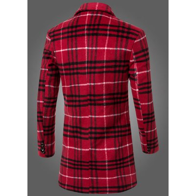 Thicken Fitted Full Sleeves Color Block Patch Pocket Woolen Blend Lapel Mens Plaid Long CoatMens Jakets &amp; Coats<br>Thicken Fitted Full Sleeves Color Block Patch Pocket Woolen Blend Lapel Mens Plaid Long Coat<br><br>Clothes Type: Wool &amp; Blends<br>Material: Cotton, Wool<br>Collar: Turn-down Collar<br>Clothing Length: Long<br>Style: Vintage<br>Weight: 0.960KG<br>Sleeve Length: Long Sleeves<br>Season: Winter<br>Package Contents: 1 x Coat