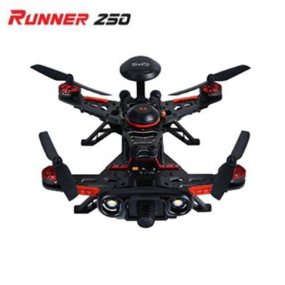 Walkera Runner250 Advance QuadcopterRC Quadcopters<br>Walkera Runner250 Advance Quadcopter<br><br>Brand: Walkera<br>Type: RC Simulators<br>Features: Radio Control<br>Functions: Forward/backward, Speed up, Sideward flight, Hover, With light, Up/down, 3D stunt<br>Built-in Gyro: Yes<br>Night Flight: Yes<br>Remote Control: 2.4GHz Wireless Remote Control<br>Channel: 7-Channels<br>Control Distance: 1000m<br>Transmitter Power: 8 x 1.5V AA battery(not included)<br>Charging Time: About 2.5hour<br>Flying Time: 10-13mins<br>Package Weight   : 2.40 kg<br>Package Size (L x W x H) : 48 x 30 x 14 cm / 18.86 x 11.79 x 5.50 inches<br>Package Contents: 1 x Walkera Runner 250 Advance, 1 x Devo 7 Transmitter, 1 x GPS, 1 x Camera, 1 x 11.1V 2200mAh Li-Po Battery, 1 x English User Manual