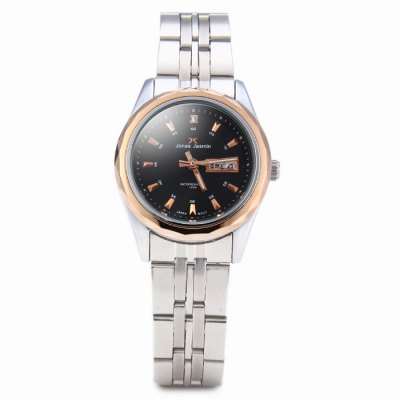Jonas Jasmin 2015L Ladies Japan Quartz Watch - Jonas JasminWomens Watches<br>Jonas Jasmin 2015L Ladies Japan Quartz Watch<br><br>Brand: Jonas Jasmin<br>Watches categories: Female table<br>Available color: White, Black<br>Style : Fashion&amp;Casual, Business<br>Movement type: Quartz watch<br>Shape of the dial: Round<br>Display type: Analog<br>Case material: Stainless steel<br>Band material: Stainless steel<br>Clasp type: Folding clasp with safety<br>Water resistance : 10 meters<br>Special features: Day, Date<br>The dial thickness: 1 cm / 0.39 inches<br>The dial diameter: 3 cm / 1.18 inches<br>The band width: 1.4 cm / 0.55 inches<br>Product weight: 0.059 kg<br>Package weight: 0.109 kg<br>Product size (L x W x H) : 20 x 3 x 1 cm / 7.86 x 1.18 x 0.39 inches<br>Package size (L x W x H): 21 x 4 x 2 cm / 8.25 x 1.57 x 0.79 inches<br>Package contents: 1 x Jonas Jasmin 2015L Watch