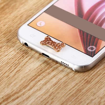 Bone Design Mobile Phone Button Sticker Key Cover Ornament for Samsung Note 5 S6 Edge Plus Note 4 3 S5 S4 etc.