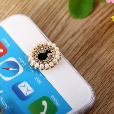 Pearl Portrait Style Home Button Key Cover Sticker for iPhone 6S / 6 Plus 5S 5 iPad iPod Touch