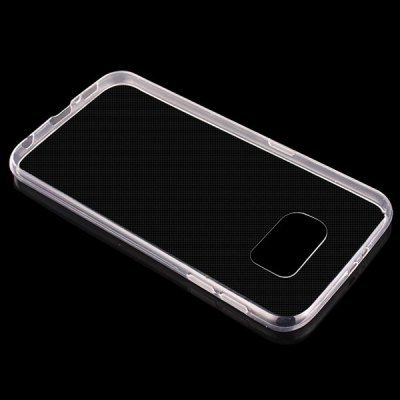 Гаджет   ENKKAY Ultra-thin and Ultra-light Clear HD TPU Protective Phone Back Case Anti-glare PET Screen Sticker for Samsung Galaxy S6 Edge G9250 Samsung Cases/Covers