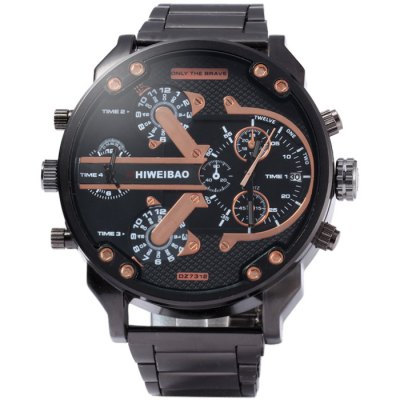 Shiweibao A3137 Male Dual Movt Quartz WatchMens Watches<br>Shiweibao A3137 Male Dual Movt Quartz Watch<br><br>Brand: Shiweibao<br>Watches categories: Male table<br>Watch style: Fashion<br>Available color: Blue,Green,Orange,Gold,Silver<br>Movement type: Double-movtz<br>Shape of the dial: Round<br>Display type: Analog<br>Case material: Stainless Steel<br>Band material: Stainless Steel<br>Clasp type: Folding clasp with safety<br>Special features: Date,Decorating small sub-dials<br>The dial thickness: 1.5 cm / 0.59 inches<br>The dial diameter: 5.7 cm / 2.24 inches<br>The band width: 2.2 cm / 0.87 inches<br>Product weight: 0.149 kg<br>Package weight: 0.199 kg<br>Product size (L x W x H): 24 x 5.7 x 1.5 cm / 9.43 x 2.24 x 0.59 inches<br>Package size (L x W x H): 25 x 6.7 x 2.5 cm / 9.83 x 2.63 x 0.98 inches<br>Package Contents: 1 x Shiweibao A3137 Watch