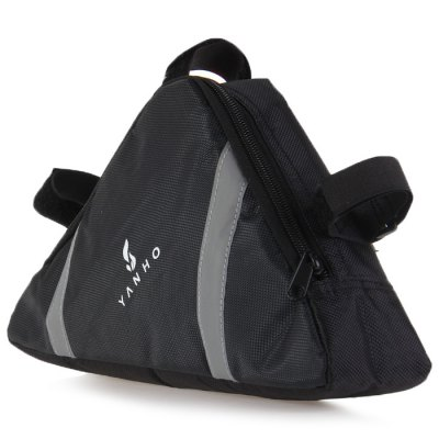 YANHO Water Resistant Bicycle Front Tube Triangle BagBike Bags<br>YANHO Water Resistant Bicycle Front Tube Triangle Bag<br><br>Brand: YANHO<br>Suitable for: Touring Bicycle, Cross-Country Cycling, Motorcycle, Road Bike, Mountain Bicycle<br>For: Unsex<br>Material: Nylon<br>Color: Black, Blue<br>Emplacement: Front Tube<br>Product Weight: 0.090 kg<br>Package Weight: 0.130 kg<br>Product Dimension: 29 x 15.5 x 6 cm / 11.40 x 6.09 x 2.36 inches<br>Package Dimension: 30 x 17 x 7 cm / 11.79 x 6.68 x 2.75 inches<br>Package Contents: 1 x YANHO Triangle Bag