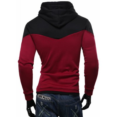 Personality Hem Color Lump Splicing Slimming Hooded Long Sleeves Mens Casual HoodieMens Hoodies &amp; Sweatshirts<br>Personality Hem Color Lump Splicing Slimming Hooded Long Sleeves Mens Casual Hoodie<br><br>Material: Cotton Blends<br>Clothing Length: Regular<br>Sleeve Length: Full<br>Style: Casual<br>Weight: 0.85KG<br>Package Contents: 1 x Hoodie