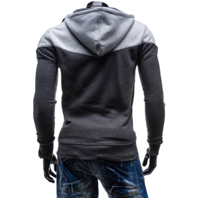 Fashion Two-Tone Spliced Front Pocket Slimming Hooded Long Sleeves Mens Zip Up HoodieMens Hoodies &amp; Sweatshirts<br>Fashion Two-Tone Spliced Front Pocket Slimming Hooded Long Sleeves Mens Zip Up Hoodie<br><br>Material: Cotton Blends<br>Clothing Length: Regular<br>Sleeve Length: Full<br>Style: Fashion<br>Weight: 0.405KG<br>Package Contents: 1 x Hoodie