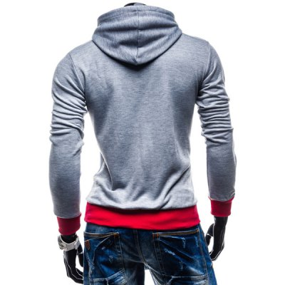 Irregular Color Lump Spliced Rib Hem Slimming Hooded Long Sleeves Mens Casual HoodieMens Hoodies &amp; Sweatshirts<br>Irregular Color Lump Spliced Rib Hem Slimming Hooded Long Sleeves Mens Casual Hoodie<br><br>Material: Cotton Blends<br>Package Contents: 1 x Hoodie<br>Shirt Length: Regular<br>Sleeve Length: Full<br>Style: Casual<br>Weight: 0.4380kg