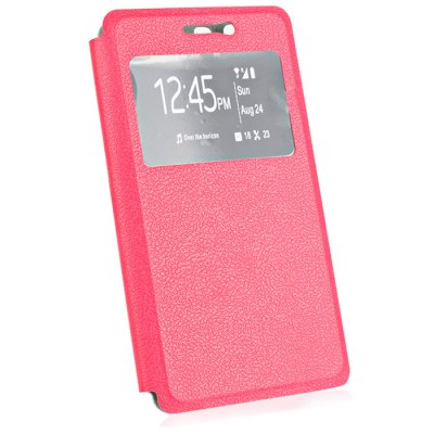 View Window Leather Protective Case for DOOGEE X5