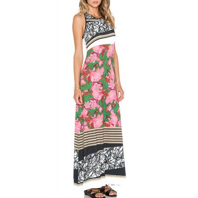 Trendy Jewel Neck Sleeveless Striped and Floral Printed Dress For WomenWomens Dresses<br>Trendy Jewel Neck Sleeveless Striped and Floral Printed Dress For Women<br><br>Style: Casual<br>Material: Polyester<br>Silhouette: A-Line<br>Dresses Length: Ankle-Length<br>Neckline: Jewel Neck<br>Sleeve Length: Sleeveless<br>Pattern Type: Floral<br>With Belt: No<br>Season: Summer<br>Weight: 0.315KG<br>Package Contents: 1 x Dress