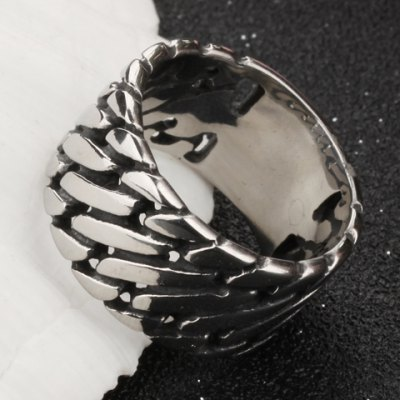 ФОТО Characteristic Stainless Steel Punk Style Ring For Men