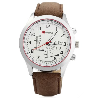 Womage Male Quartz Watch with Nubuck Leather Strap Decorative Sub-dial - WomageMens Watches<br>Womage Male Quartz Watch with Nubuck Leather Strap Decorative Sub-dial<br><br>Brand: WoMaGe<br>Watches categories: Male table<br>Watch style: Fashion<br>Available color: Black, White, Brown, Khaki<br>Movement type: Quartz watch<br>Shape of the dial: Round<br>Display type: Analog<br>Case material: Stainless steel<br>Band material: Leather<br>Clasp type: Pin buckle<br>Special features: Decorating small sub-dials<br>The dial thickness: 1.2 cm / 0.47 inches<br>The dial diameter: 4.2 cm / 1.65 inches<br>The band width: 2.0 cm / 0.79 inches<br>Wearable length: 17.5 - 22 cm / 6.89 - 8.66 inches<br>Product weight: 0.052 kg<br>Package weight: 0.102 kg<br>Product size (L x W x H): 25.5 x 4.2 x 1.2 cm / 10.02 x 1.65 x 0.47 inches<br>Package size (L x W x H): 26.5 x 5.2 x 2.2 cm / 10.41 x 2.04 x 0.86 inches<br>Package contents: 1 x Womage Quartz Watch
