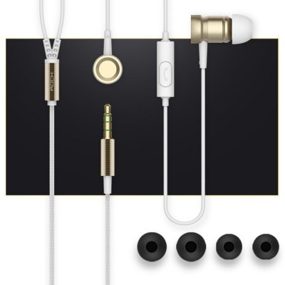 ROCK Mula Stereo Earbud Earphone with Mic 3.5mm Knurling Process