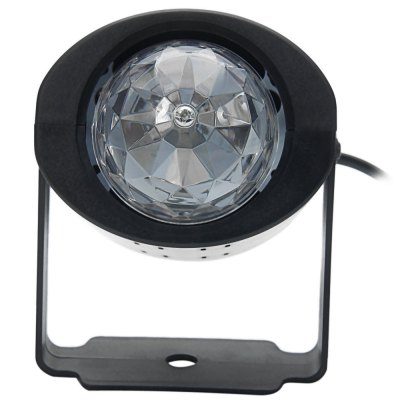 Гаджет   3W Voice Control LED Stage Light RGB Rotating Lamp Stage Lighting