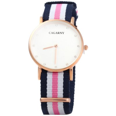 Гаджет   Cagarny 6813 Male Japan Quartz Watch with Canvas Band Men