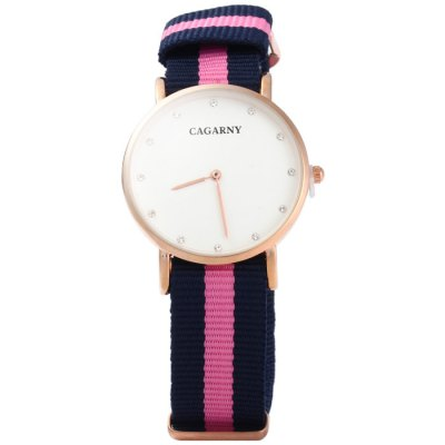 Cagarny 6813 Male Japan Quartz Watch with Canvas BandMens Watches<br>Cagarny 6813 Male Japan Quartz Watch with Canvas Band<br><br>Brand: Cagarny<br>Watches categories: Male table<br>Watch style: Fashion<br>Watch color: Red + White + Blue, Pink + White, Pink + Blue, Red + Blue, Blue + White<br>Movement type: Quartz watch<br>Shape of the dial: Round<br>Display type: Analog<br>Case material: Stainless steel<br>Band material: Canvas<br>Clasp type: Pin buckle<br>The dial thickness: 1.0 cm / 0.39 inches<br>The dial diameter: 3.5 cm / 1.38 inches<br>The band width: 1.8 cm / 0.71inches<br>Wearable Length:: 14 - 21.5 cm / 5.51 - 8.46 inches<br>Product weight: 0.029 kg<br>Package weight: 0.059 kg<br>Product size (L x W x H): 25 x 3.5 x 1 cm / 9.83 x 1.38 x 0.39 inches<br>Package size (L x W x H): 26 x 4.5 x 2 cm / 10.22 x 1.77 x 0.79 inches<br>Package Contents: 1 x Cagarny 6813 Watch