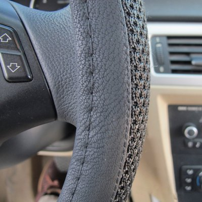 LEBOSH Steering Wheel CoverSteering Wheel Covers<br>LEBOSH Steering Wheel Cover<br><br>Type: Steering Wheel Cover<br>Brand: LEBOSH<br>Model  : JY-BT-3-bingsi<br>Material  : Leather<br>Color  : Black, Gray, Beige<br>Product weight   : 0.350 kg<br>Package weight   : 0.440 kg<br>Product size (L x W x H)  : 38 x 38 x 4.5 cm / 14.93 x 14.93 x 1.77 inches<br>Package size (L x W x H)  : 39 x 39 x 5 cm / 15.33 x 15.33 x 1.97 inches<br>Package Contents: 1 x Steering Wheel Cover