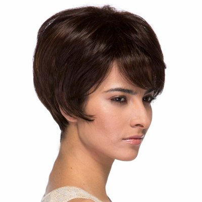 Assorted Color Short Elegant Side Bang Capless Fluffy Wavy Real Natural Hair Wig For WomenMixed Hair Wigs<br>Assorted Color Short Elegant Side Bang Capless Fluffy Wavy Real Natural Hair Wig For Women<br><br>Type: Full Wigs<br>Cap Construction: Capless<br>Style: Wavy<br>Cap Size: Average<br>Material: Human Hair<br>Bang Type: Side<br>Length: Short<br>Occasion: Daily<br>Density: 130%<br>Length Size(CM): 22<br>Weight: 0.281KG<br>Package Contents: 1 x Wig