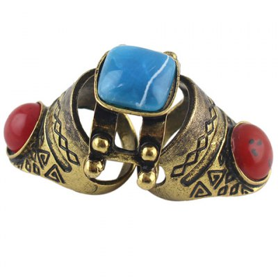 Vintage Faux Gemstone Decorated Knuckle Ring For WomenRings<br>Vintage Faux Gemstone Decorated Knuckle Ring For Women<br><br>Gender: For Women<br>Setting Type: Tension Setting<br>Metal Type: Alloy<br>Style: Trendy<br>Shape/Pattern: Geometric<br>Diameter: 1.8CM<br>Weight: 0.040KG<br>Package Contents: 1 x Ring