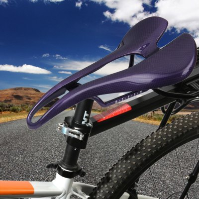 Carbon Fiber Saddle SeatCycling<br>Carbon Fiber Saddle Seat<br><br>Type: Bicycle Saddles<br>Suitable for : Mountain Bicycle, Bike, Road Bike<br>Color: Red, Blue, Purple, White<br> Product weight : 0.127 kg<br>Package weight : 0.162 kg<br>Product size (L x W x H)   : 26.20 x 13.00 x 5.30 cm / 10.30 x 5.11 x 2.08 inches<br>Package size (L x W x H)  : 26.5 x 13.6 x 5.8 cm / 10.41 x 5.34 x 2.28 inches<br>Package Contents: 1 x 3K Matte Road MTB Bike Bicycle Full Carbon Fiber Cushion Hollow Saddle Seat