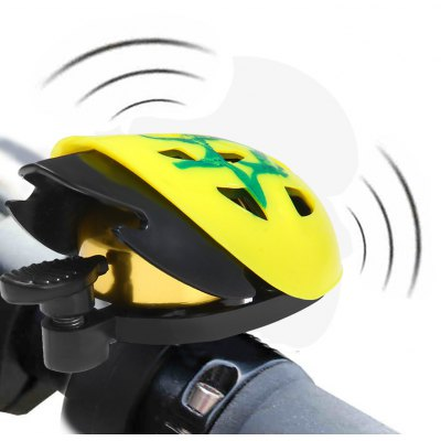 Helmet Shaped Bike Handlebar Bell Ring for Outdoor Cycling
