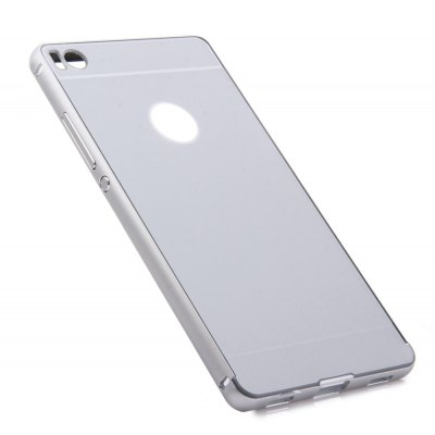 Thin PC Phone Cover Case with Mental Frame for HUAWEI P8