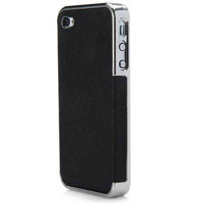 Chrome Plated Frame Hard Protector Case Cover for iPhone 4 4S