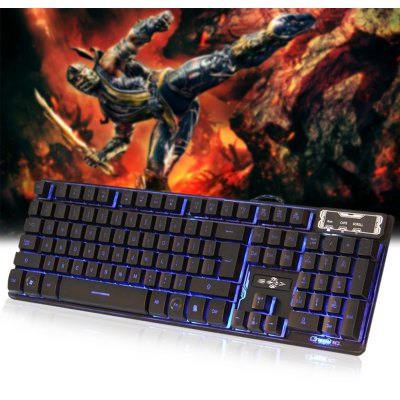 V - 300 Three Backlight Colors USB Wired Gaming Keyboard