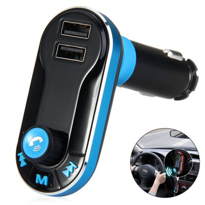 Bluetooth V2.1 Car FM Transmitter with 2.1A Dual USB Car Charger