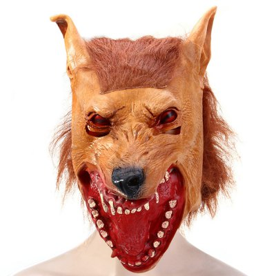 Halloween Latex Wolf Head MaskHalloween Supplies<br>Halloween Latex Wolf Head Mask<br><br>Type: Halloween Latex Wolf Head Mask<br>Material: Latex<br>Functions: Decoration for Masquerade Parties Cosplay etc.<br>Features: Wolf Head Style Design<br>Usage: Performance, Halloween, Party, Christmas<br>Color: Brown<br>Product weight: 0.152 kg<br>Package weight : 0.200 kg<br>Product size (L x W x H) : 39 x 22 x 30 cm / 15.33 x 8.65 x 11.79 inches<br>Package size (L x W x H): 35 x 20 x 4 cm / 13.76 x 7.86 x 1.57 inches<br>Package Contents: 1 x Artificial Halloween Latex Wolf Head Mask Masquerade Parties Cosplay Gadget