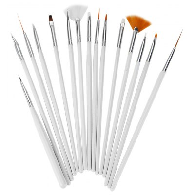 15Pcs Nail Art Design Painting Pen Brush Tool Set