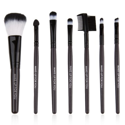 7 Pcs Cosmetic Makeup Brush Set Kit with Wooden Handle PU Brush Bag Pouch for Cosmetics FoundationMakeup Brushes &amp; Tools<br>7 Pcs Cosmetic Makeup Brush Set Kit with Wooden Handle PU Brush Bag Pouch for Cosmetics Foundation<br><br>Features: Lightweight,Easy to Carry,Charming Colors<br>Brush hair: Fiber<br>Material: PU Leather,Sponge,Plastic,Wood<br>Product weight: 0.082KG<br>Package weight: 0.111 KG<br>Package size (L x W x H): 18.50 x 8.50 x 3.00 cm / 7.28 x 3.35 x 1.18 inches<br>Package Contents: 1 x Large Shadow Brush, 1 x Small Shadow Brush, 1 x Blush Brush, 1 x Concealer Brush ( Lip Brush ), 1 x Eyelash / Eyebrow Comb, 1 x Angled Liner Brush, 1 x Sponge Shadow Brush, 1 x Brush Pouch