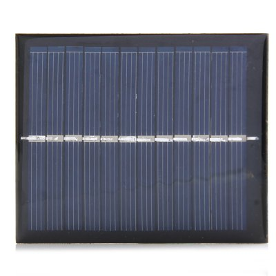 0.6W 6V DIY Solar PanelOther Garden Supplies<br>0.6W 6V DIY Solar Panel<br><br>Color: Black<br>Material: Polycrystalline silicon, Electronic Components<br>Package Contents: 1 x 0.6W 6V DIY Solar Panel Charger for Battery Phone Outdoor Camping Necessary<br>Package size (L x W x H): 10 x 7 x 2 cm / 3.93 x 2.75 x 0.79 inches<br>Package weight: 0.050 kg<br>Product size (L x W x H): 9 x 6 x 0.2 cm / 3.54 x 2.36 x 0.08 inches<br>Product weight: 0.017 kg<br>Type: Other Camping Gear