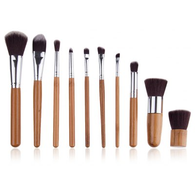 10 Pcs Makeup Brushes Set Tools Foundation Eyeshadow Eyeliner Professional Cosmetic Make Up Brushes Set