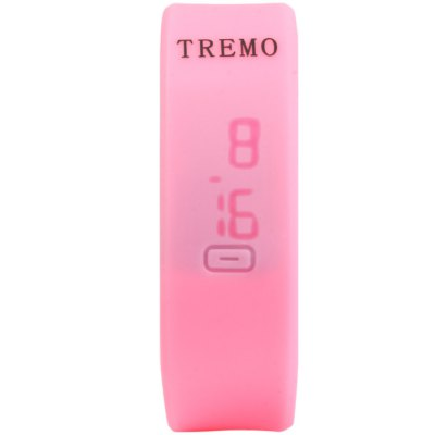 TREMO LED WatchLED Watches<br>TREMO LED Watch<br><br>Brand: TREMO<br>People: Male table<br>Watch style: Fashion&amp;Casual, LED<br>Available color: Pink, Red, Gray, Black, White<br>Shape of the dial: Rectangle<br>Movement type: Digital watch<br>Display type: Digital<br>Case material: Rubber/Silicone<br>Band material: Rubber<br>Clasp type: Buckle<br>Special features: Date<br>The dial thickness: 0.8 cm / 0.31 inches<br>The dial diameter: 2.0 cm / 0.79 inches<br>The band width: 2.0 cm / 0.79 inches<br>Wearable length: 16 - 21 cm / 6.3 - 8.27 inches<br>Product weight: 0.024 kg<br>Package weight: 0.074 kg<br>Product size (L x W x H) : 24 x 2 x 0.8 cm / 9.43 x 0.79 x 0.31 inches<br>Package size (L x W x H): 25 x 3 x 1.8 cm / 9.83 x 1.18 x 0.71 inches<br>Package contents: 1 x TREMO LED Watch