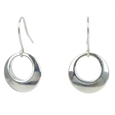 Pair of Delicate Solid Color Circle Earrings For Women