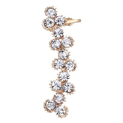 ONE PIECE Flower Alloy Rhinestoned Ear Cuff