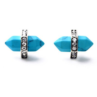 Vintage Turquoise Bullet Shape Earrings