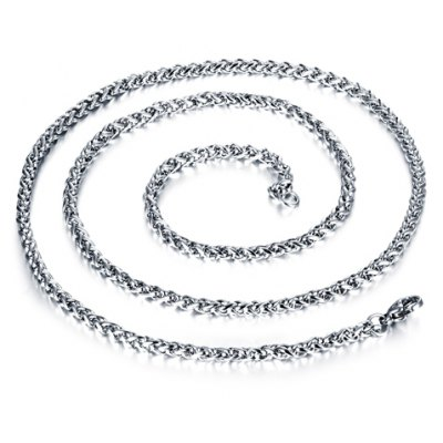 Фотография Delicate Solid Color Stainless Steel Chain Necklace For Men