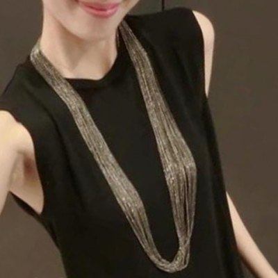 Stylish Solid Color Layered Chain Necklace